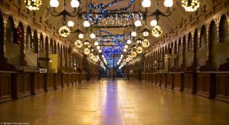 Krakowskie Sukiennice w Boże Narodzenie 2016r...