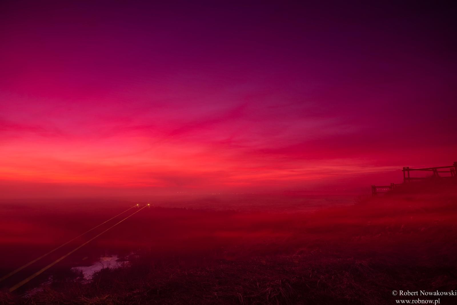 Zimowy zachód Słońca nad Pustynią Błędowską...